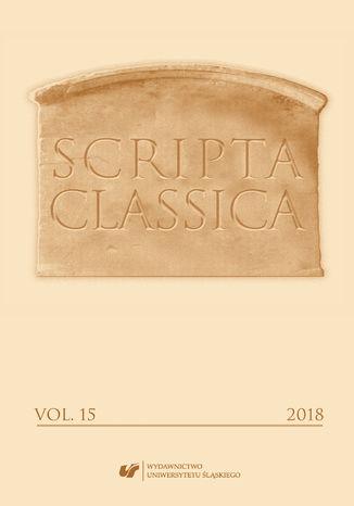 Okładka książki 'Scripta Classica' 2018. Vol. 15