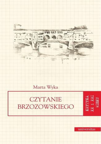Okładka książki/ebooka Czytanie Brzozowskiego
