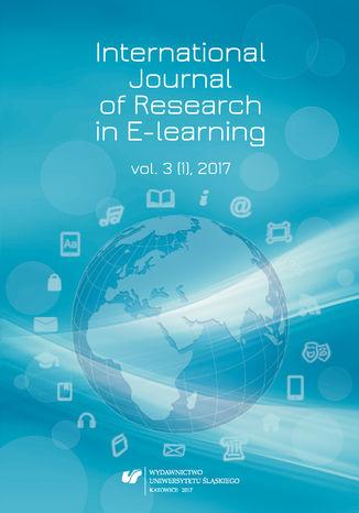 Okładka książki 'International Journal of Research in E-learning' 2017. Vol. 3 (1)