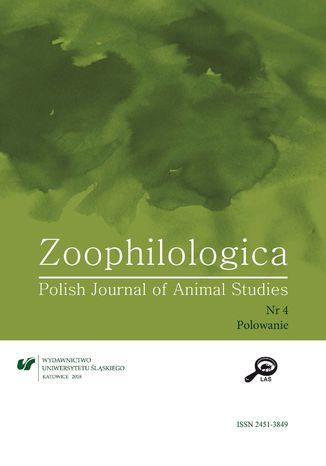 Okładka książki 'Zoophilologica. Polish Journal of Animal Studies' 2018, nr 4: Polowanie