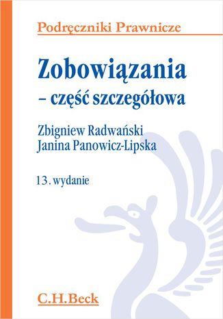 Okładka książki/ebooka Zobowiązania - część szczegółowa. Wydanie 13