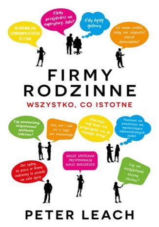 Okładka książki/ebooka Firmy rodzinne. Wszystko, co istotne