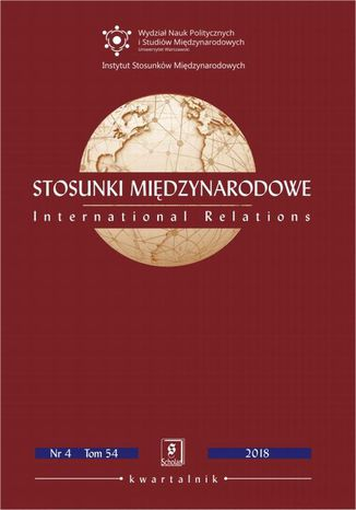 Okładka książki/ebooka Stosunki Międzynarodowe nr 4(54)/2018
