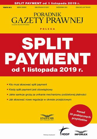 Okładka książki/ebooka Split payment od 1 listopada 2019 r