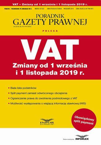 Okładka książki/ebooka VAT Zmiany od 1 września i 1 listopada 2019