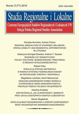 Okładka książki Studia Regionalne i Lokalne nr 3(77)/2019