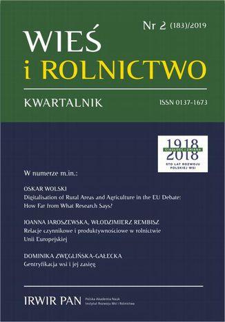 Okładka książki Wieś i Rolnictwo nr 2(183)/2019