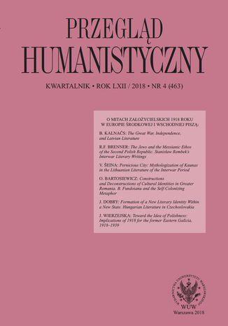 Okładka książki/ebooka Przegląd Humanistyczny 2018/4 (463)