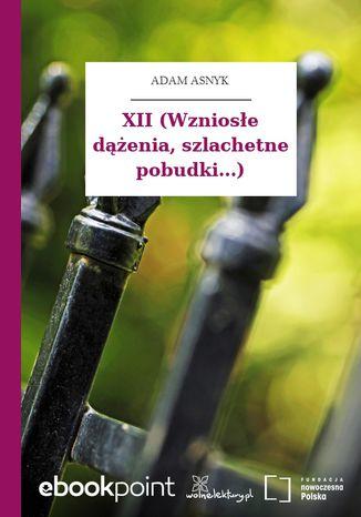 Okładka książki XII (Wzniosłe dążenia, szlachetne pobudki...)