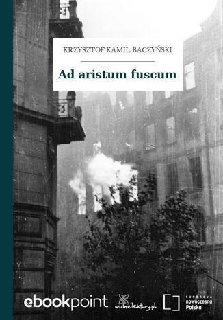 Okładka książki/ebooka Ad aristum fuscum