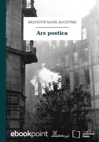 Okładka książki/ebooka Ars poetica