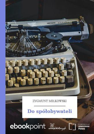 Okładka książki Do spółobywateli