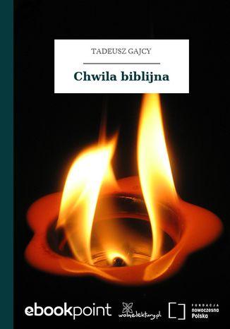 Okładka książki Chwila biblijna