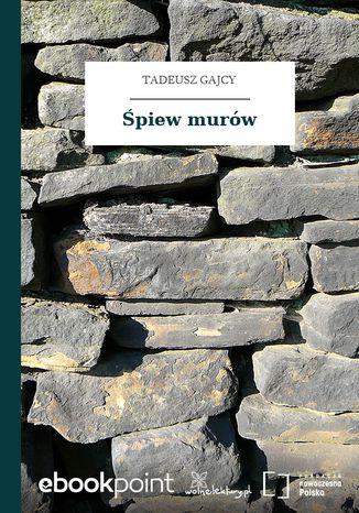 Okładka książki/ebooka Śpiew murów