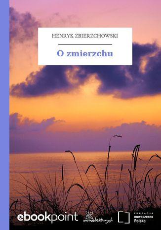 Okładka książki O zmierzchu