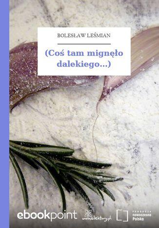 Okładka książki/ebooka (Coś tam mignęło dalekiego...)