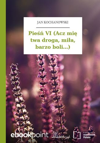 Okładka książki/ebooka Pieśń VI (Acz mię twa droga, miła, barzo boli...)