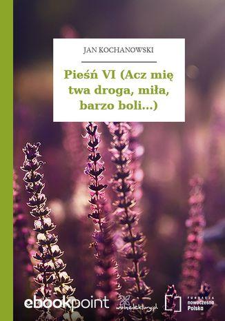 Okładka książki Pieśń VI (Acz mię twa droga, miła, barzo boli...)