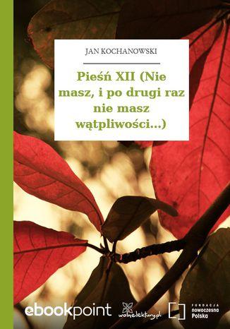 Okładka książki/ebooka Pieśń XII (Nie masz, i po drugi raz nie masz wątpliwości...)