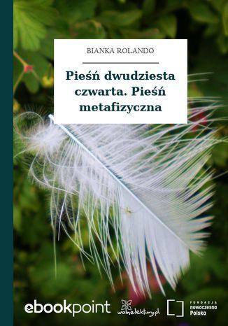 Okładka książki/ebooka Pieśń dwudziesta czwarta. Pieśń metafizyczna