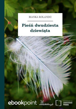 Okładka książki Pieśń dwudziesta dziewiąta