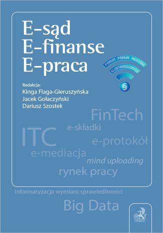 Okładka książki E-sąd. E-finanse. E-praca