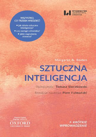 Okładka książki Sztuczna inteligencja. Jej natura i przyszłość. Krótkie Wprowadzenie 21