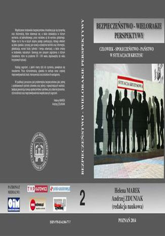 Okładka książki CZŁOWIEK  SPOŁECZEŃSTWO  PAŃSTWO W SYTUACJACH KRYZYSU t.2