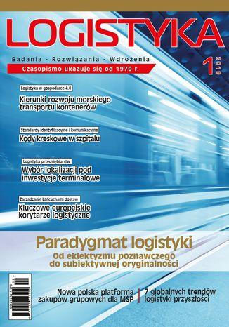 Okładka książki Czasopismo Logistyka 1/2019