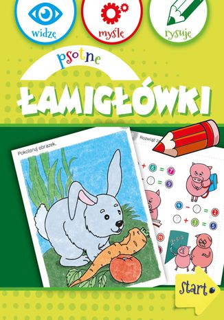 Okładka książki/ebooka Psotne łamigłówki