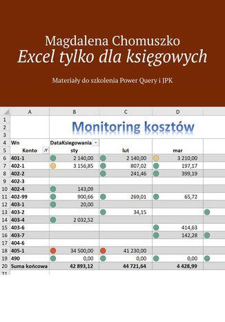 Okładka książki/ebooka Excel tylko dlaksięgowych Zeszyt 1