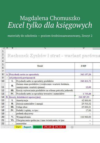 Okładka książki/ebooka Excel tylko dlaksięgowych Zeszyt 2