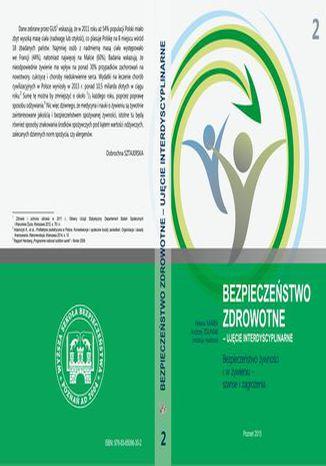 Okładka książki Bezpieczeństwo żywności i w żywieniu  szanse i zagrożenia t.2