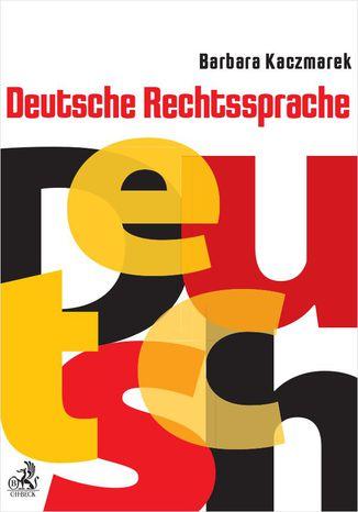 Okładka książki/ebooka Deutsche Rechtssprache