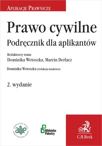 Okładka książki Prawo cywilne. Podręcznik dla aplikantów. Wydanie 2