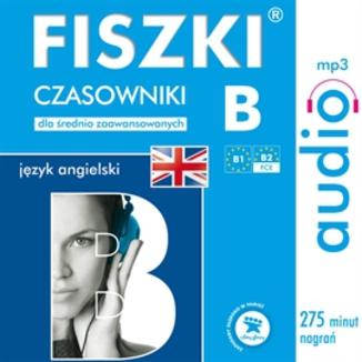 Okładka książki FISZKI audio  j. angielski  Czasowniki dla średnio zaawansowanych