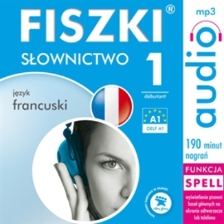 Okładka książki FISZKI audio  j. francuski  Słownictwo 1