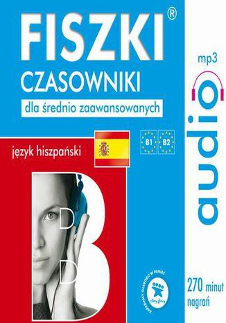 Okładka książki FISZKI audio  j. hiszpański  Czasowniki dla średnio zaawansowanych