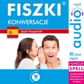 Okładka książki FISZKI audio  j. hiszpański  Konwersacje