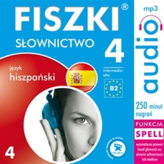 Okładka książki FISZKI audio  j. hiszpański  Słownictwo 4