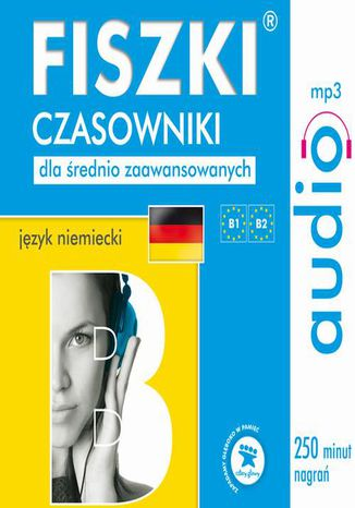Okładka książki/ebooka FISZKI audio  j. niemiecki  Czasowniki dla średnio zaawansowanych