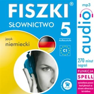 Okładka książki FISZKI audio  j. niemiecki  Słownictwo 5