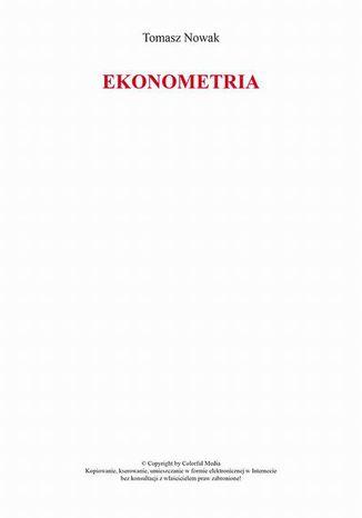 Okładka książki/ebooka Ekonometria