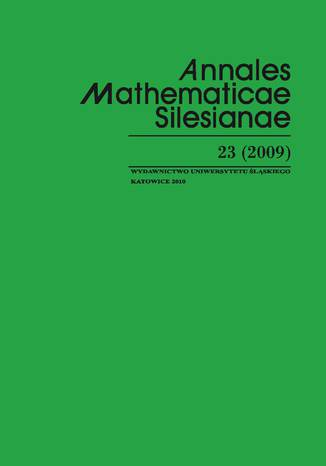 Okładka książki/ebooka Annales Mathematicae Silesianae. T. 23 (2009)
