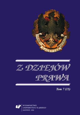 Okładka książki Z Dziejów Prawa. T. 7 (15)