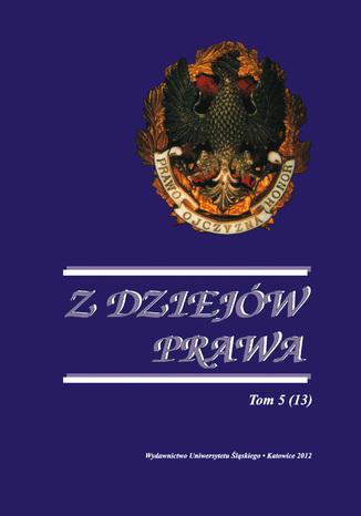 Okładka książki/ebooka Z Dziejów Prawa. T. 5 (13)