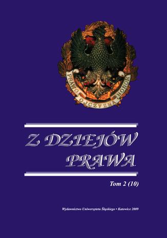 Okładka książki Z Dziejów Prawa. T. 2 (10)
