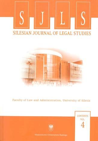 Okładka książki/ebooka Silesian Journal of Legal Studies. Contents Vol. 4