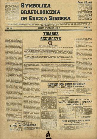 Okładka książki/ebooka Symbolika Grafologiczna dr Ericka Singera
