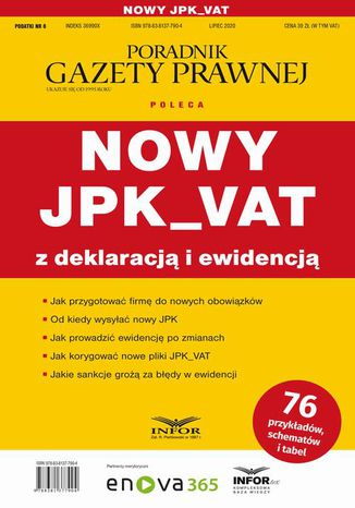 Okładka książki Nowy JPK_VAT z deklaracją i ewidencją
